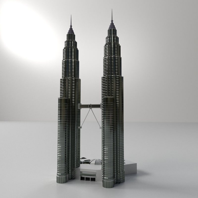 3d petronas twin tower