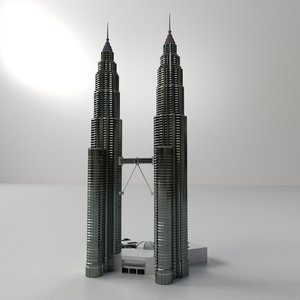 3d petronas twin tower