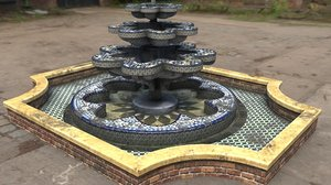 3d old fountaine mray model