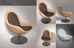 3d armchair creus