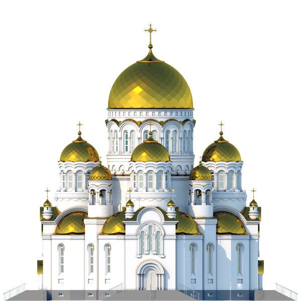 russian orthodox church 3d max