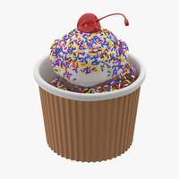 ice cream cup 3d max