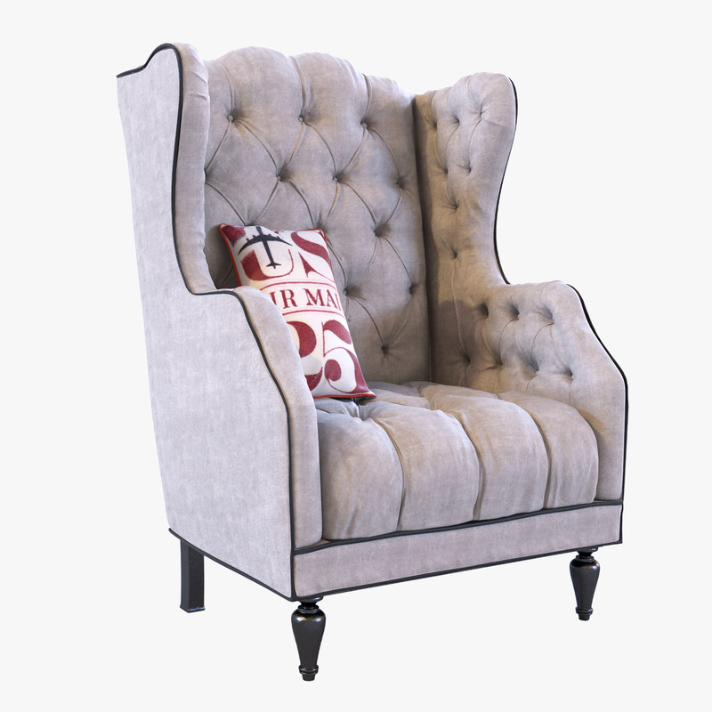 chair tufted mail 3d max