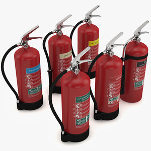 3d extinguishers water dry model