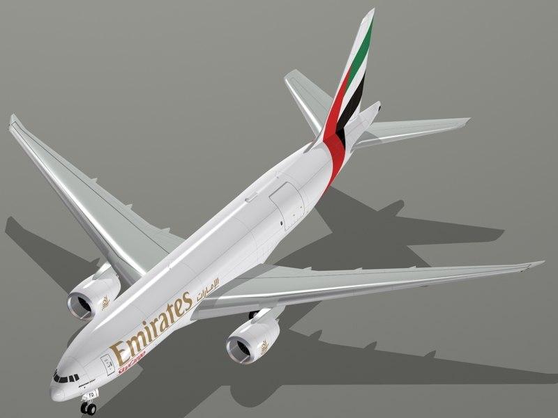 3d model b emirates skycargo 777