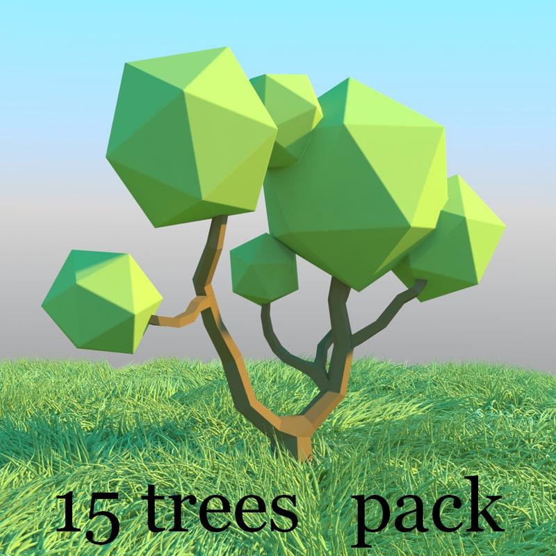 3d model pack trees style