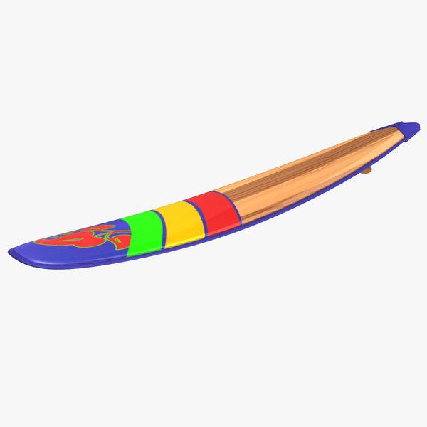 3d model surfboard colors