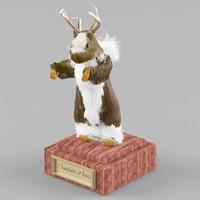 prairie-deer deer prairie 3d model