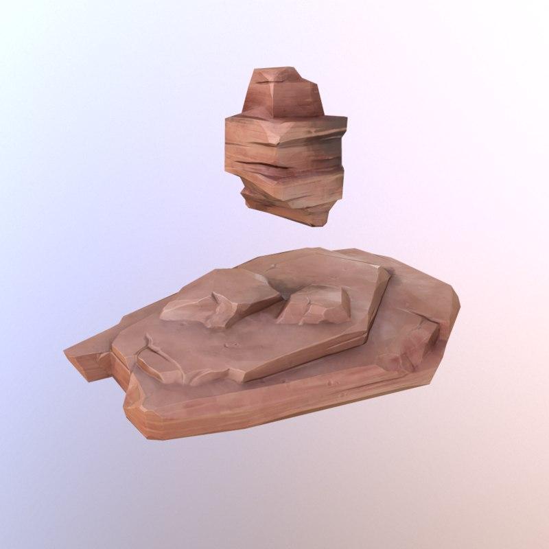 red rocks 3d model