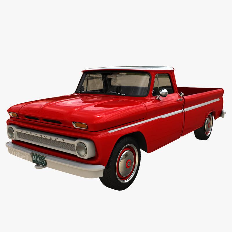 3d max chevrolet pickup truck