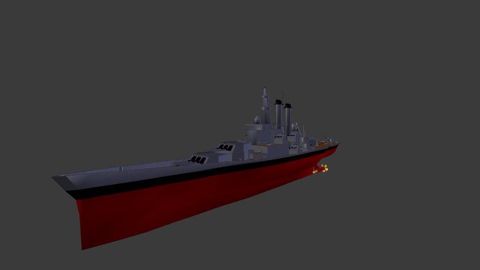 3d battleship north carolina model