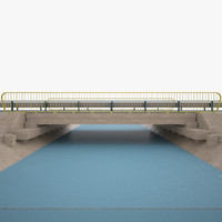 bridge river 3d model