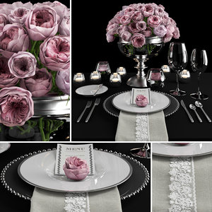 table setting roses max