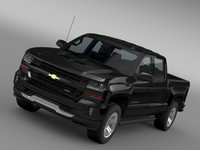 3d model of chevrolet silverado lt z71