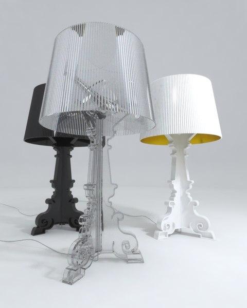 3d kartell bourgie lamp model