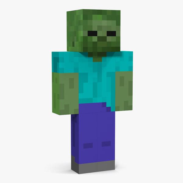minecraft zombie c4d