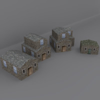3d model medieval home environment