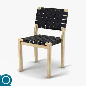 3d model alvar aalto 611 chair designer