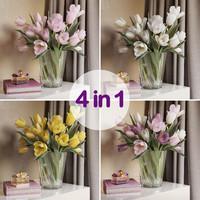 3d model tulip flower