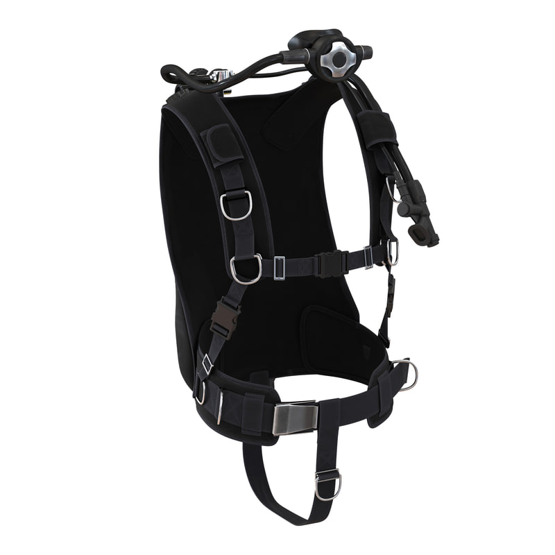 diving equipment 3 3d model