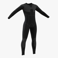 dive wetsuit 3 3d model