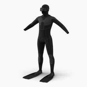 3d dive wetsuit