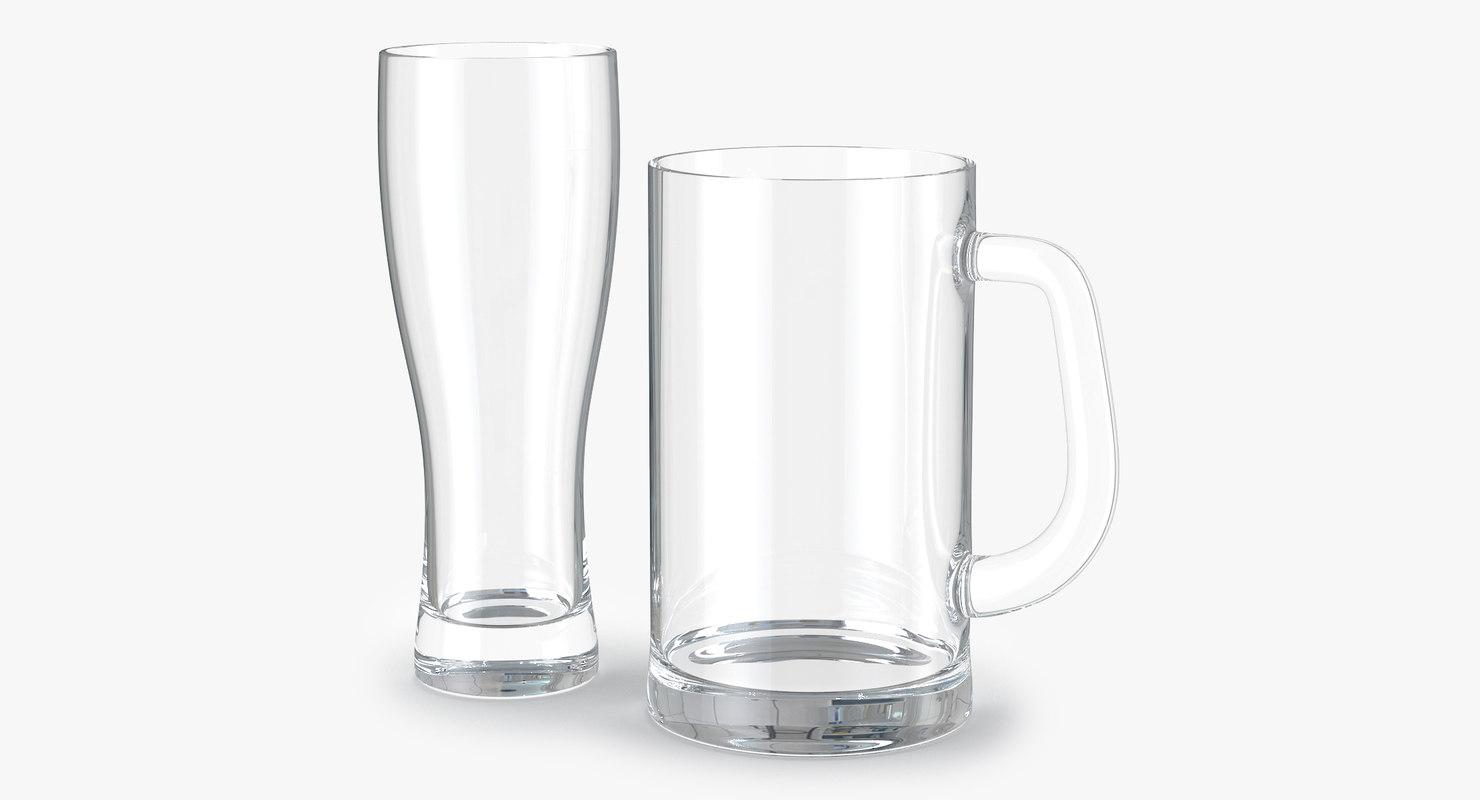 3d max beer glasses