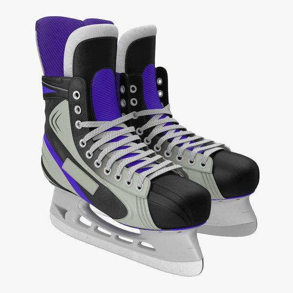 3d hockey skates generic model