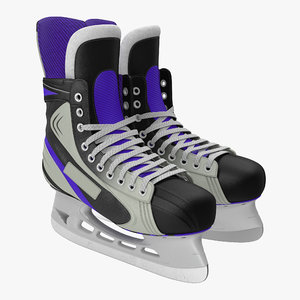 3d hockey skates generic model