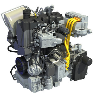 volkswagen xl1 engine 3d model