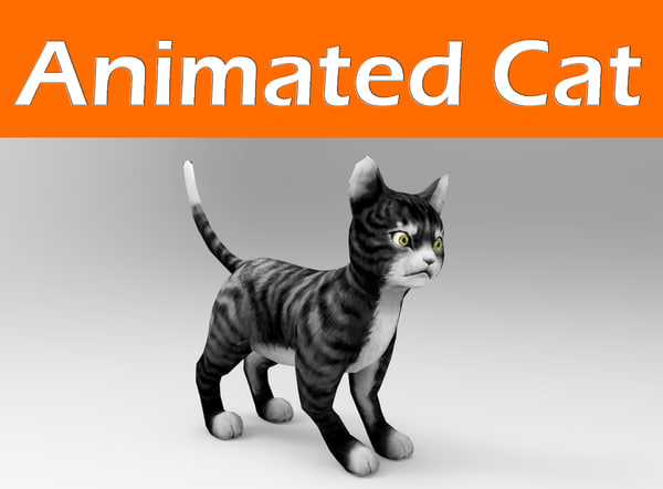cat animation 3d max