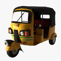 Auto Rickshaw Low Poly