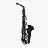 Black Saxophone 3D Model