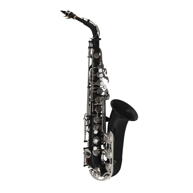 3d black saxophone model
