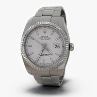 3d model rolex datejust white gold
