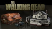 3d walking dead farm model