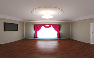 3d model room 002 curtain