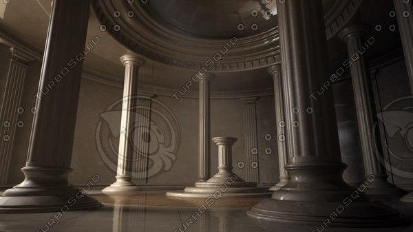 ancient interior 3d model