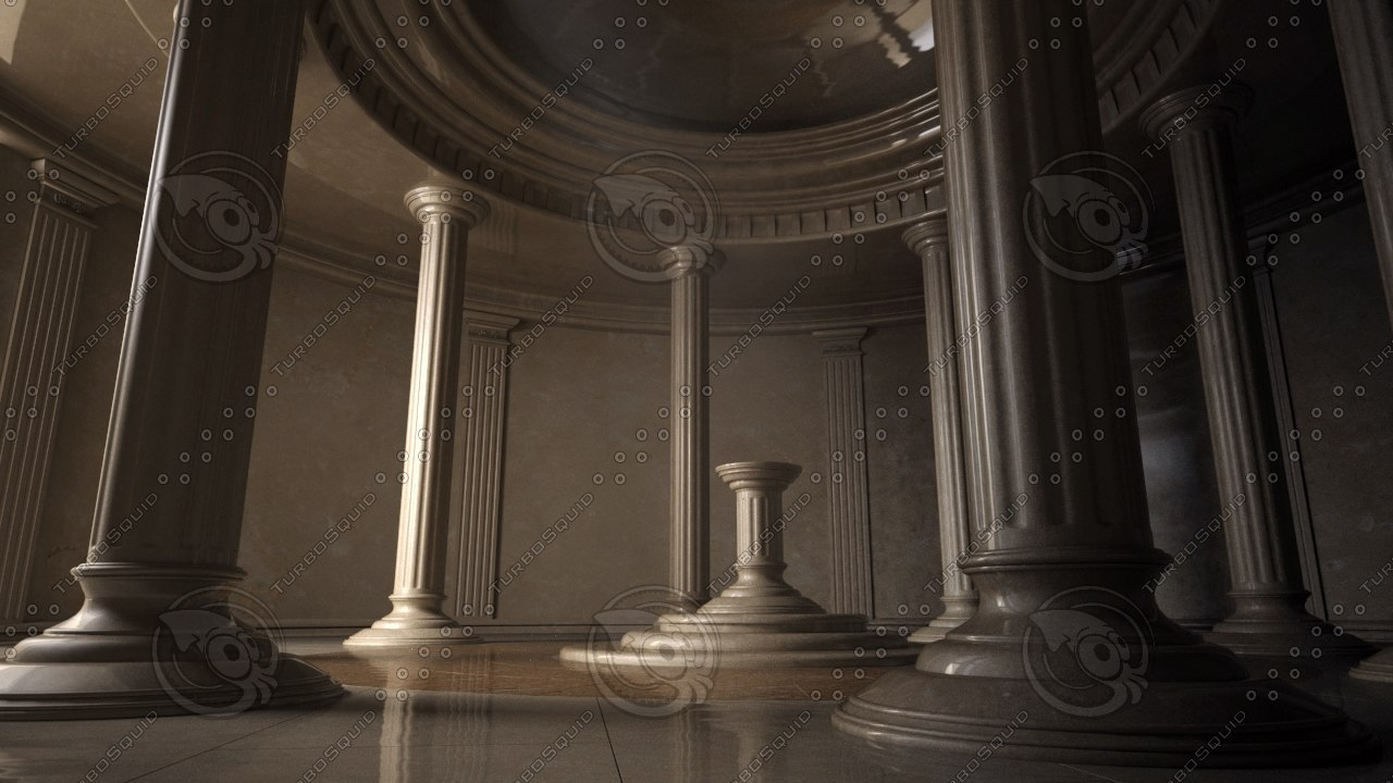ancient interior 3d model