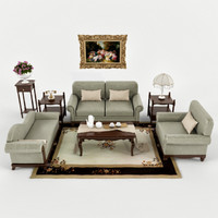 3d model of livingroom furniture set