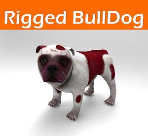 3ds bulldog rigged