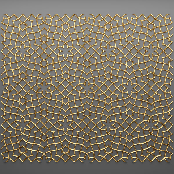 3d lattice arab panel