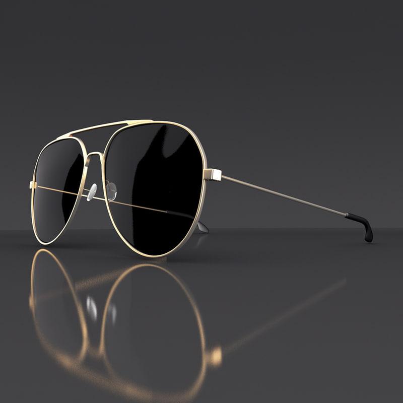 3d model sunglasses sun