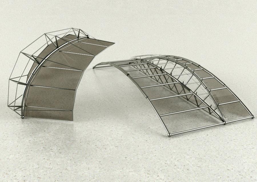 3d architectural design model