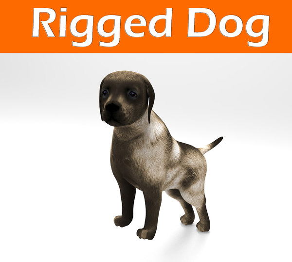 dog rigged 3d max