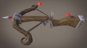 stylized xbow mobile 3d max