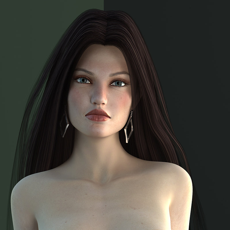 female body amy v2 3d model