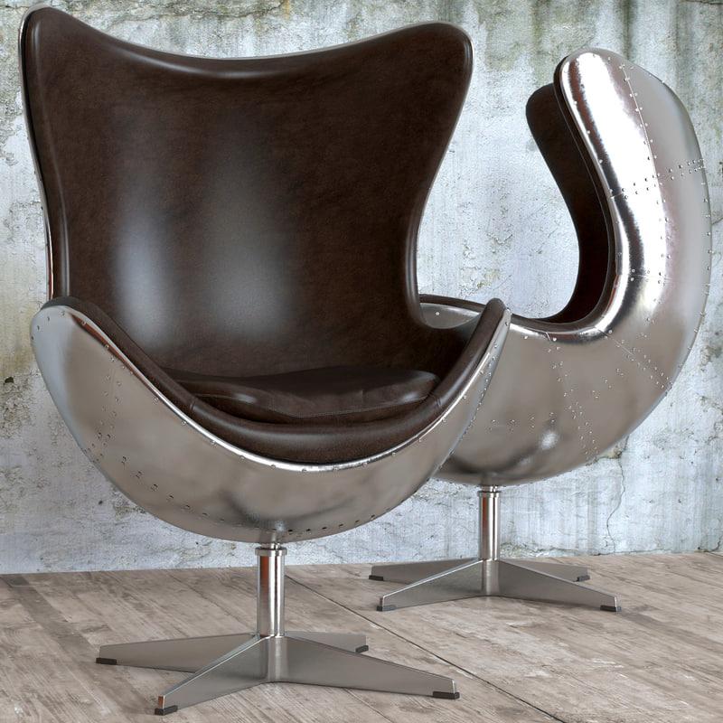 seat egg aviator designed 3d obj
