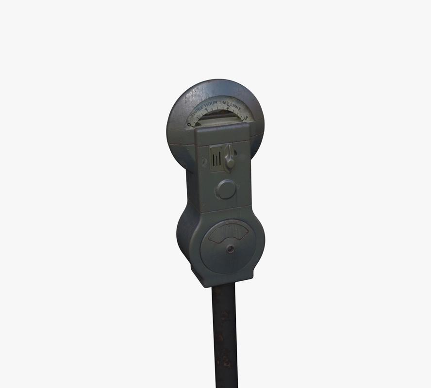parking meter 3d max