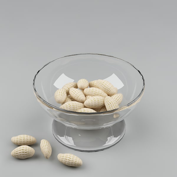 3d nuts peanuts model